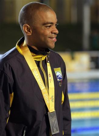 NICHOLAS ALFRED NECKLES Proudly wearing his silver medal at the CAC Games 2010 MAYAGUEZ, PUERTO RICO